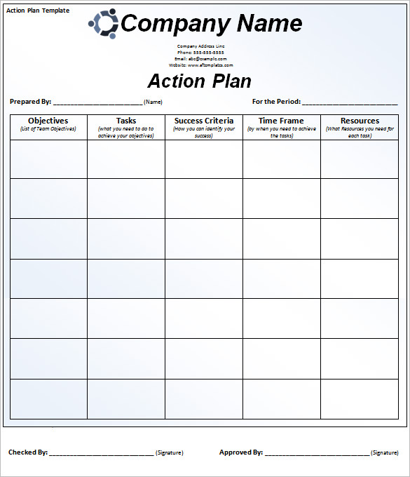 Action Plan Template 110+ Free Word, Excel, PDF Documents | Free
