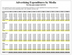 Advertising Plan Template Excel Templates