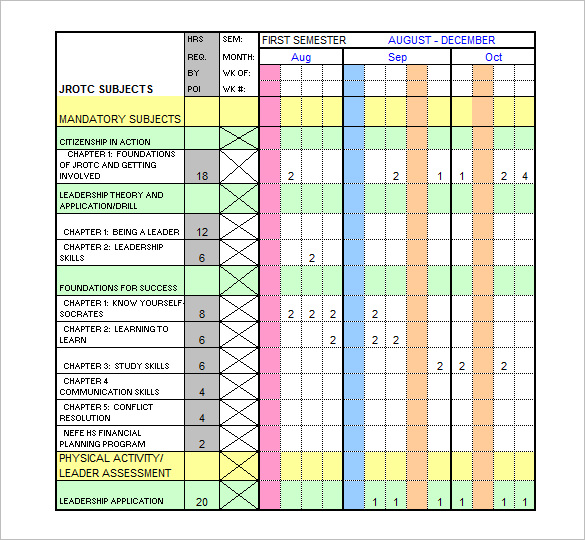 Training Schedule Templates 19+ Free Word, Excel, PDF Format