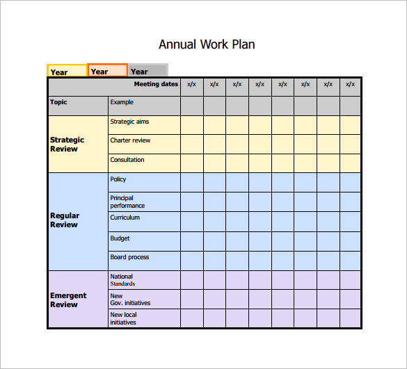 Plan Template. Free Project Plan Template Example For
