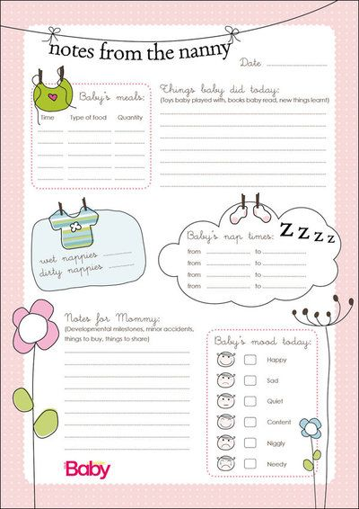 Nanny+Schedule+Template+for+Baby | To download the nanny chart as