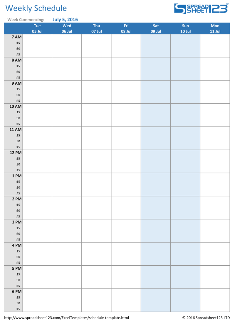 28 Images of Bi Weekly Schedule Template   leseriail.com