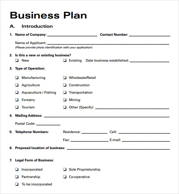 Business Plan Template Word | http://webdesign14.com/