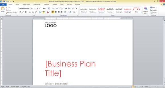 free word business plan template free business plan template for