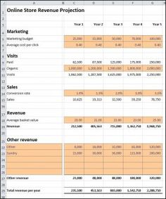 Business Plan Template Online Store