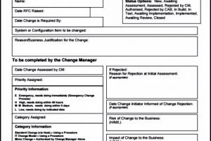 Change Request Template Free Project Management Templates