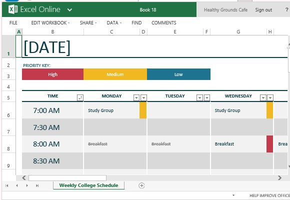To Easily Create Class Schedules Using Excel