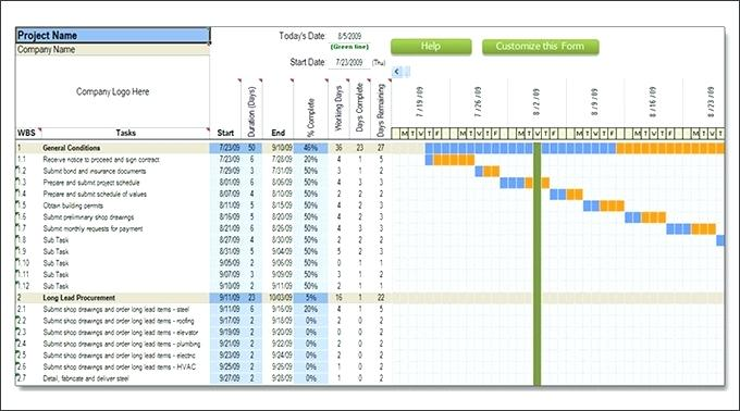 Construction Schedule Template Excel Free Excel Construction