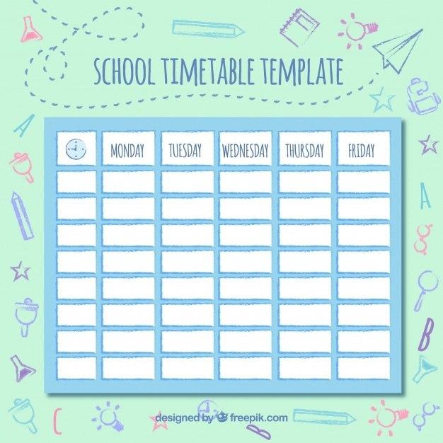 Cute Class Schedule Template   listmachinepro.com