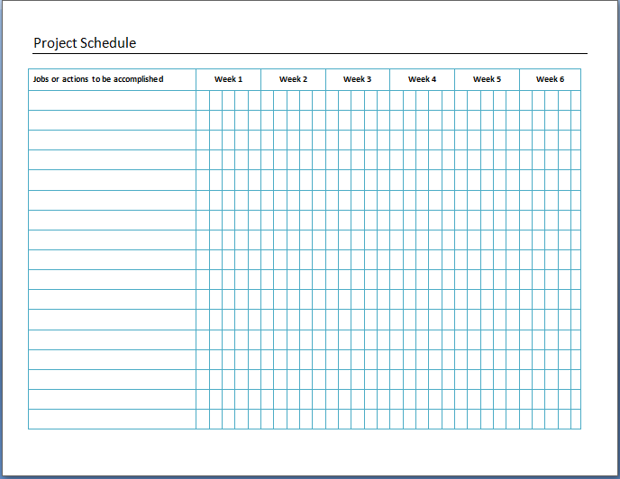 Panel Board Schedule Template