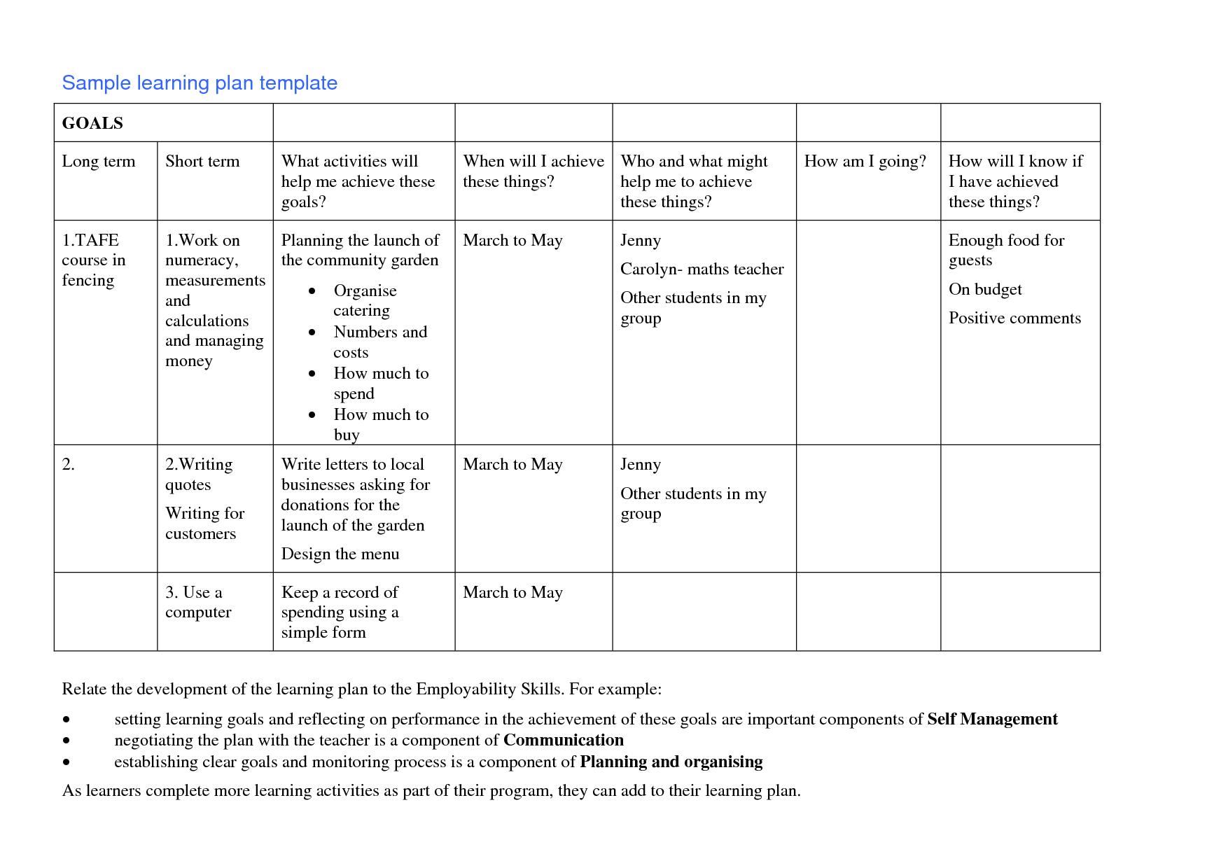 nursing teaching plan outline