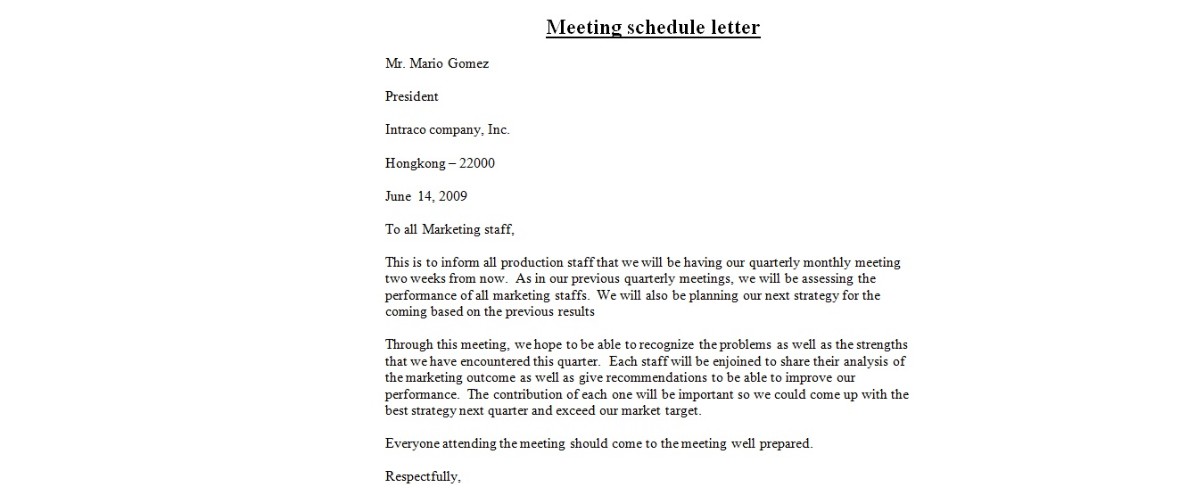 Schedule A Meeting Email Template | shatterlion.info