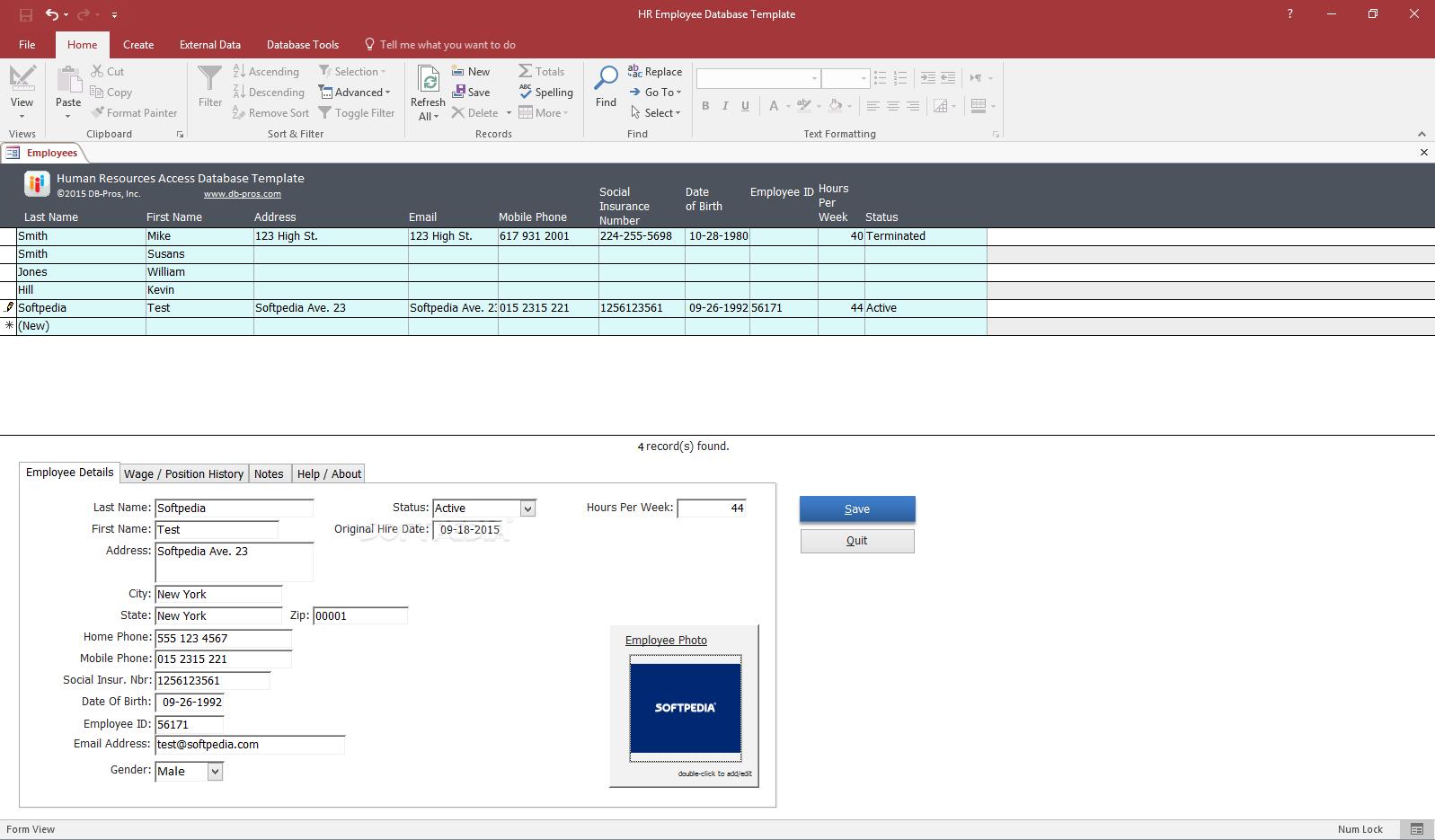 Employee Database Template