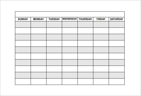 15 Free Employee Work Schedule Templates Schedule Templates