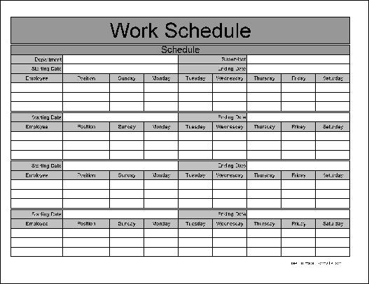 5+ monthly employee schedule template | CV Template