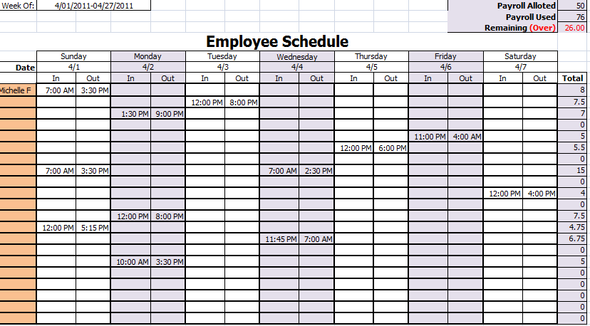 30 Images of Monthly Work Schedule Template   leseriail.com
