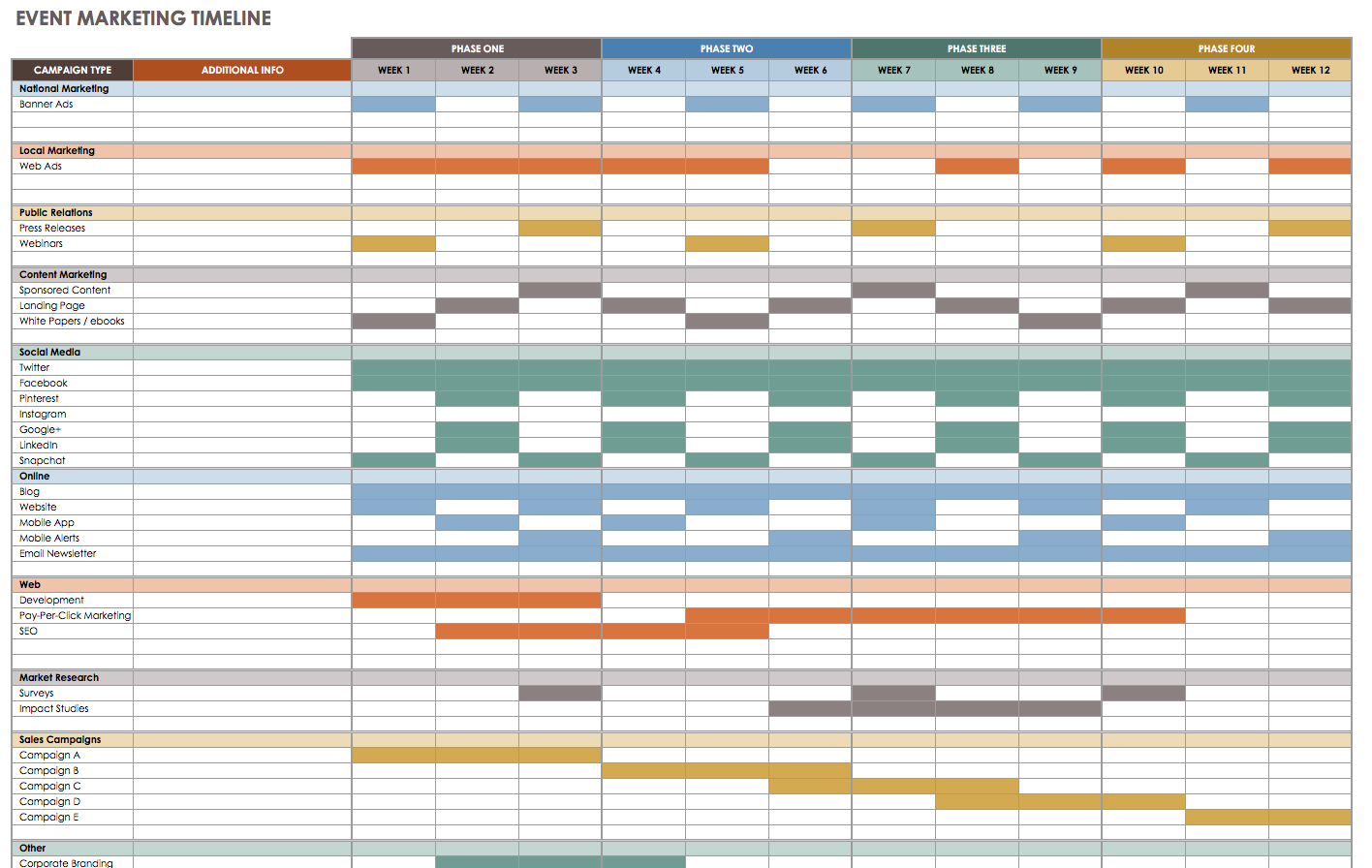 Event Schedule Template Excel