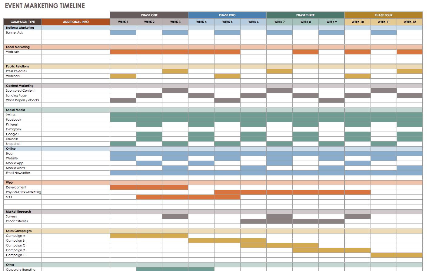 21 Free Event Planning Templates | Smartsheet