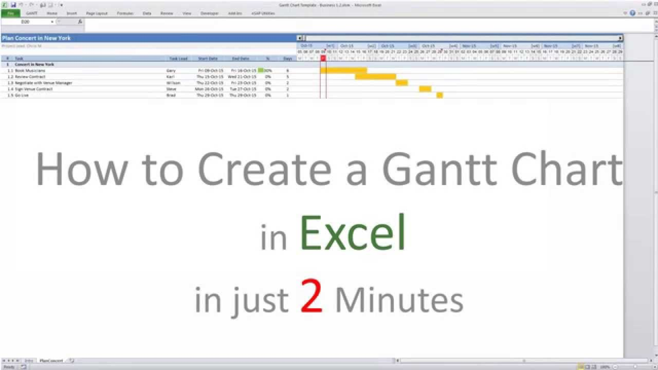 a Gantt Chart with Excel is Getting Even Easier
