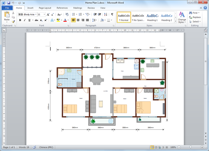 Floor Plan Template Microsoft Word