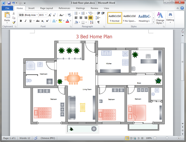 Home Plan Templates for Word