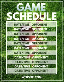 Customizable Design Templates for Sports Team Schedule | PosterMyWall
