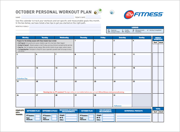 Workout Schedule Template 17+ Free Word, Excel, PDF Format