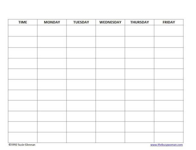 A Marmie Life: Homeschool Weekly Schedule and a free template