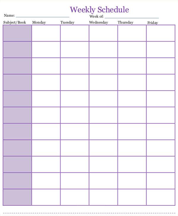 7+Homeschool Schedule Templates | Free & Premium Templates