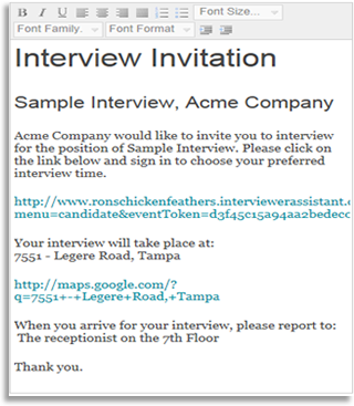Interview Invitation for the 21st Century Interviewer Assistant