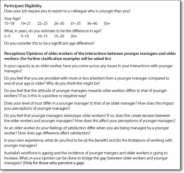 Interview Schedule Template Qualitative Research