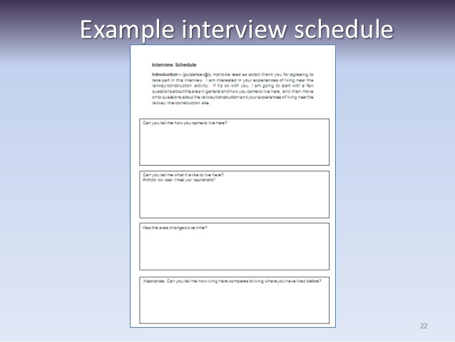 Interview Schedule Template For Qualitative Research Printable