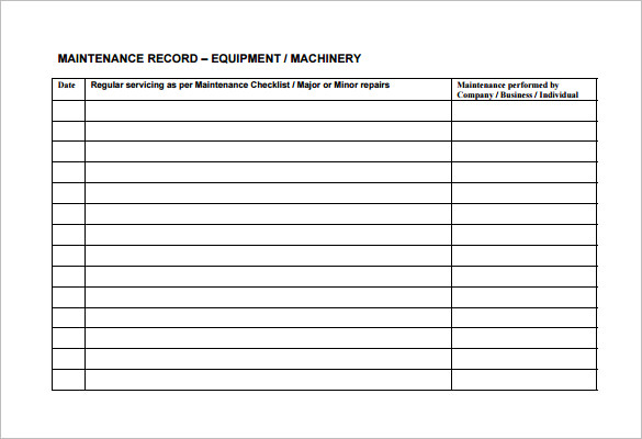 Landscape Maintenance Schedule Template