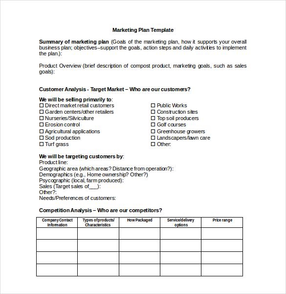 22+ Microsoft Word Marketing Plan Templates   Free & Premium Templates