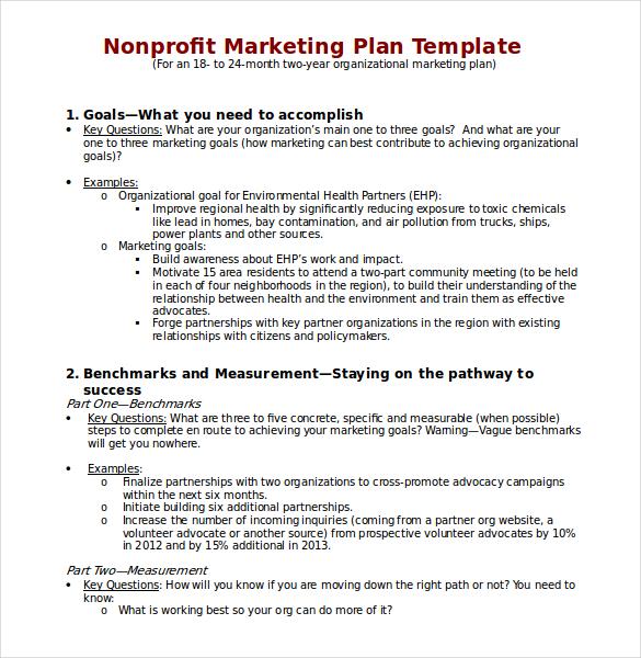 Marketing Plan Template Free Download