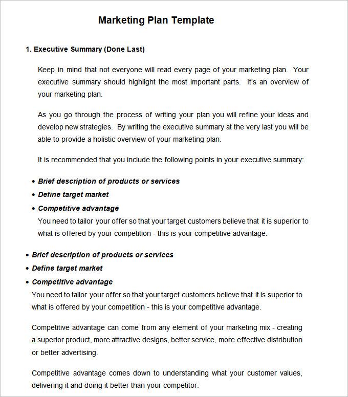 Strategic Marketing Plan Template 10+ Free Word, PDF Documents