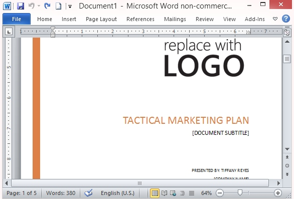 free marketing templates for word free marketing templates