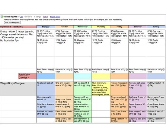 Meal Planner and Weekly Menu Planner Templates
