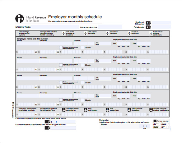 Monthly Work Schedule Template 25+ Free Word, Excel, PDF Format