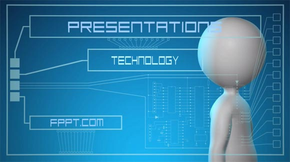 Animated Futuristic PowerPoint Template
