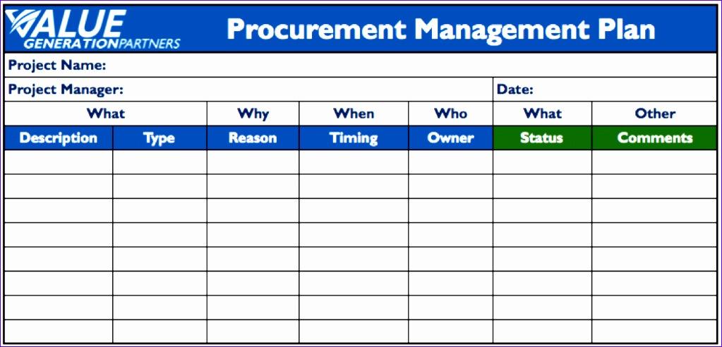 procurement schedule template excel