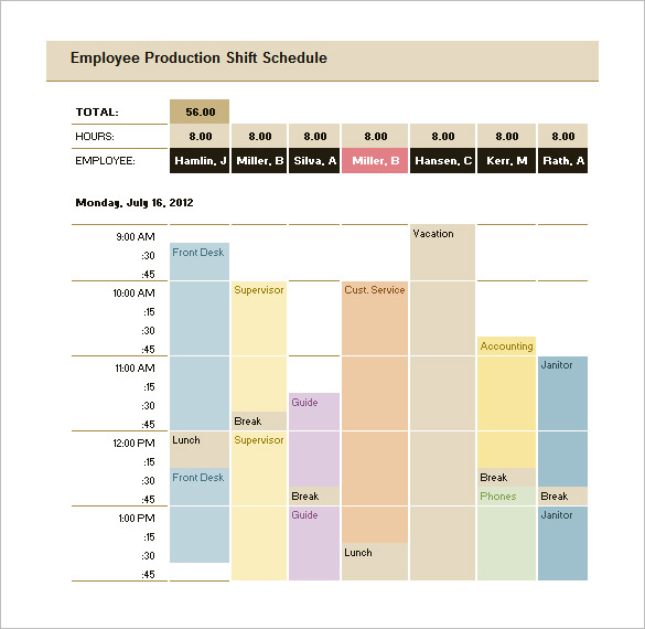 Production Schedule Template Excel Free