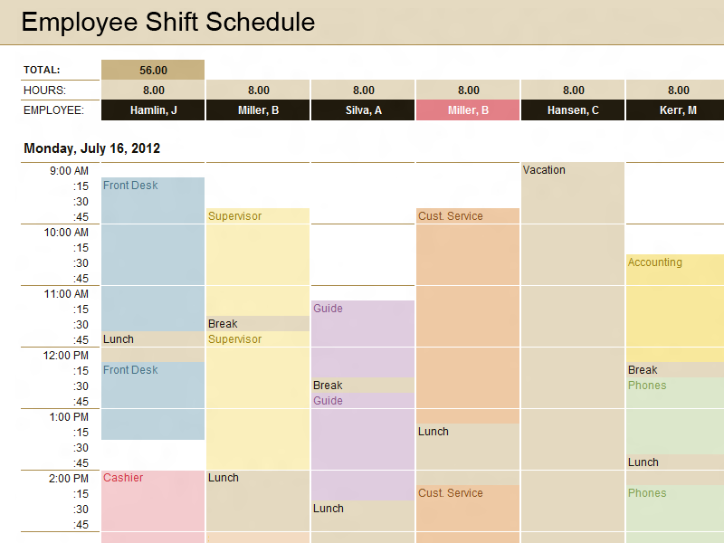 Production Schedule Template | Microsoft Excel Templates