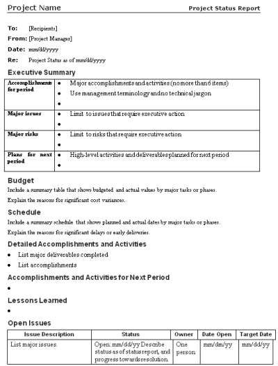Lessons Learned Template. The Project Communication Plan Mpug
