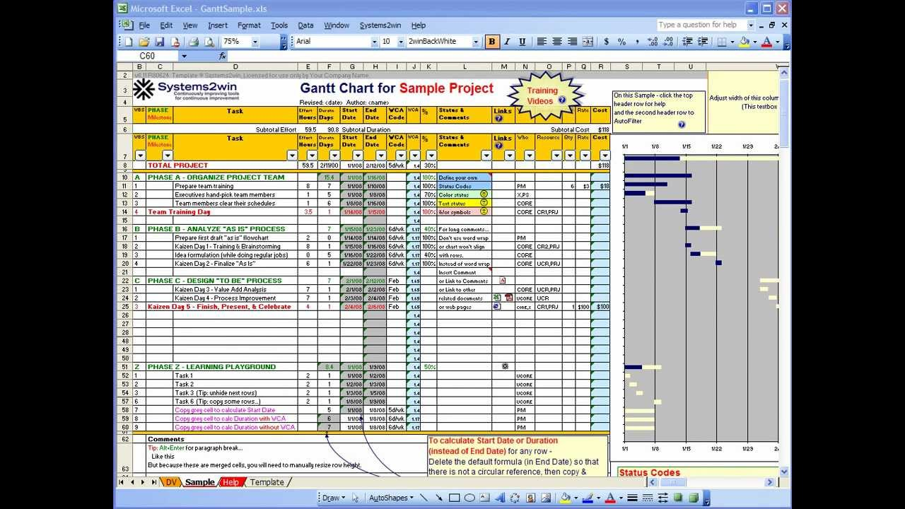 36 Free Gantt Chart Templates (Excel, PowerPoint, Word) Template Lab