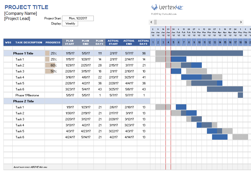 Project Plan Template Free Excel