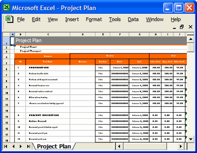 Project Plan Template Excel | Project Plan Template In Excel Free Printable Schedule Template