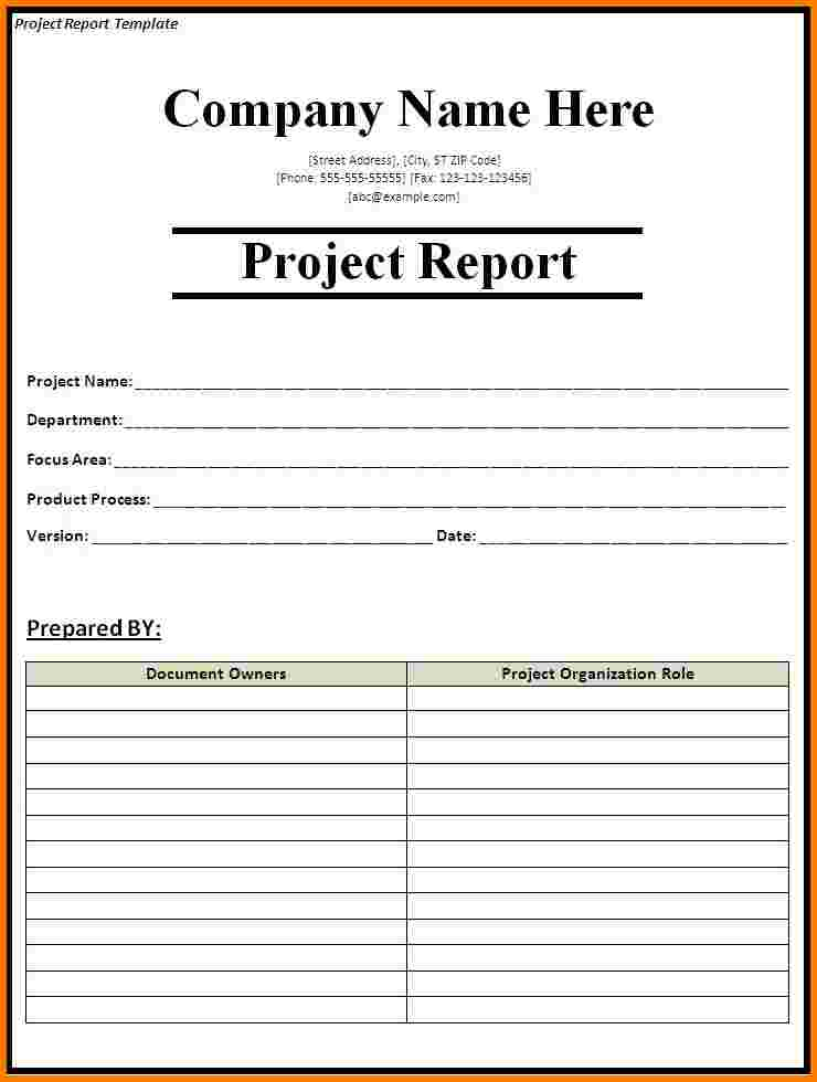 weekly project report template weekly status report template 13