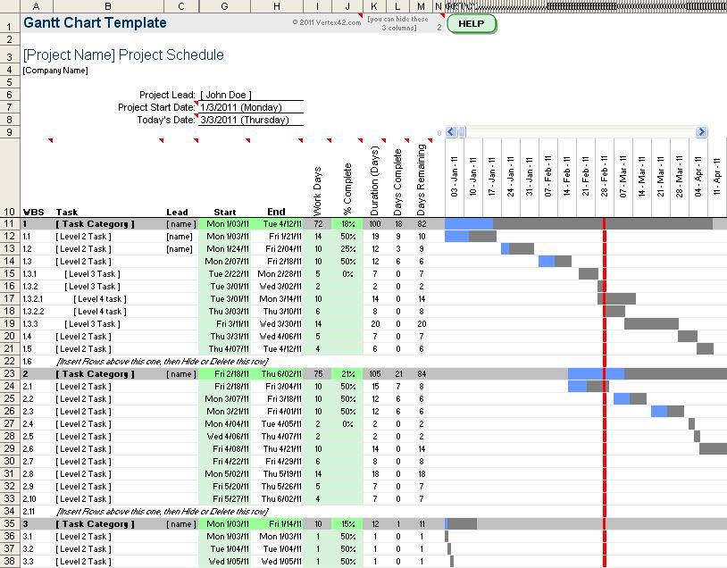 Gantt Chart Template Pro for Excel