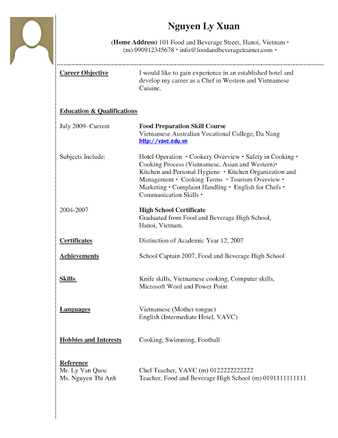 Sample Resume College Student Vintage No Experience